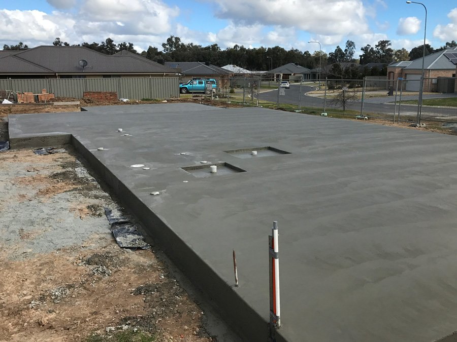 Residential Slab with recess