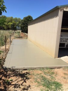 Shed slabs and surrounds