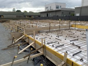 Large residential slab with waffle pods