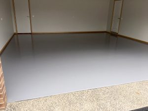 Painted concrete garage