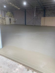 Large commercial shed slab